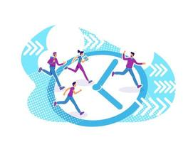grupo de gestión del tiempo vector