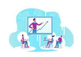 lección en línea de codificación y análisis de datos vector