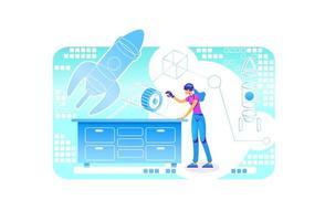 VR engineering program vector