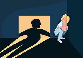 Domestic violence victim vector