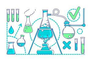 objetos de experimentos científicos vector