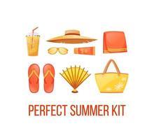 Publicación en redes sociales de Beach Essentials vector