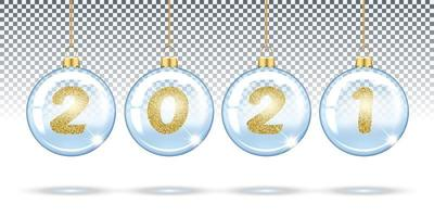 Transparent Christmas balls 2021