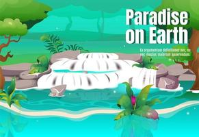 Paradise on Earth poster vector