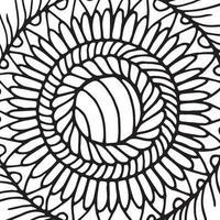 Azulejo de mandala zentangle. vector