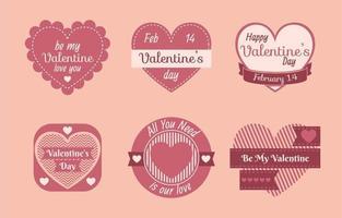 Valentine Heart Label vector