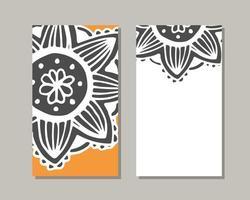 Yoga studio card template.