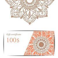 Yoga studio gift card template.