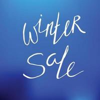 Winter sale lettering vector