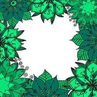 Flower mandala background. vector