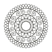 Flower mandala for cards, prints, and coloring books vector