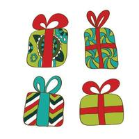 Merry Christmas gifts boxes.