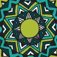 Flower mandala tile. vector
