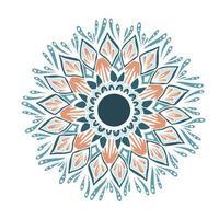 mandala de flores para tarjetas, estampados y libros para colorear vector