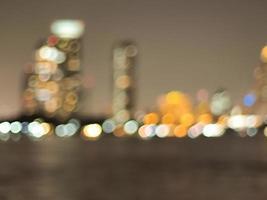 Blurred bokeh cityscape photo