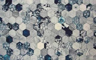 Fabric texture with hexagons pattern