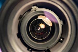 primer plano de la lente de una cámara