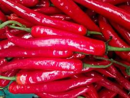 Close-up of fresh red peppers photo