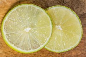 rodajas de limón, de cerca