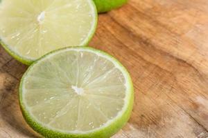 Lemon slices, close up