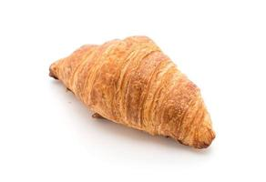 Butter croissant on white background