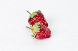 fruta fresca de fresa foto