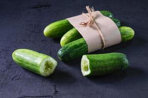 Cucumber chopped in half