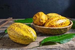 cacao fresco en canasta