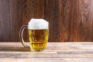 Foamy beer mug
