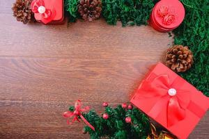 composición navideña con espacio de copia foto