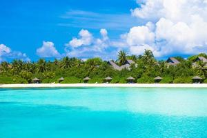 Maldives, South Asia, 2020 - Resort on a tropical island
