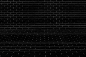 textura de la pared de ladrillo negro foto