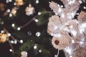 adorno de árbol de reno iluminado