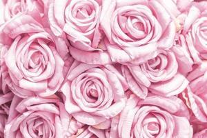 Soft focus fabric flowers