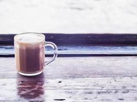 un café con leche capuchino foto