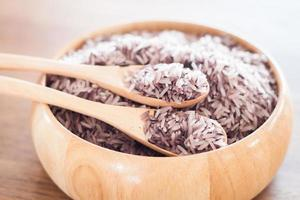 Berry rice in a bowl photo