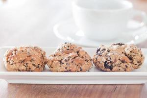 galletas saludables con una taza de café foto