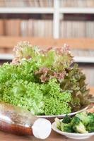 Green lettuce and broccoli