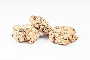 galletas de cereales aisladas sobre fondo blanco