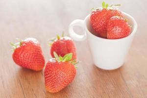 Strawberries in a cup photo