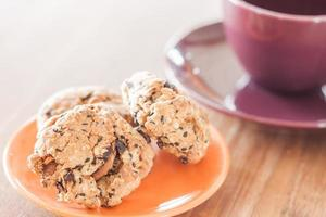 primer plano, de, cereal, galletas