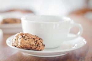 taza de café y galletas saludables foto