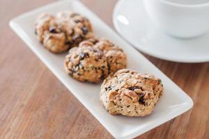 pausa para el café con galletas saludables foto