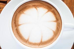 Close-up of a latte