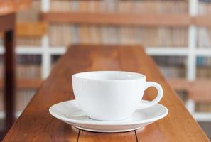 Coffee cup on a wooden counter