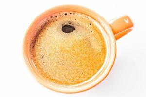 Taza de espresso aislado sobre fondo blanco.