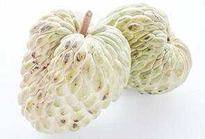 Custard apple fruits on white background photo