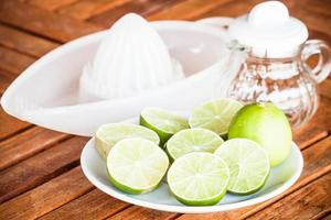 Fresh limes on a table