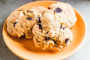 Cookies on a orange plate
