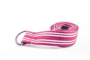 Pink belt on white background photo